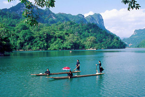 Ba Be Lake in Bac Kan province, Vietnam
