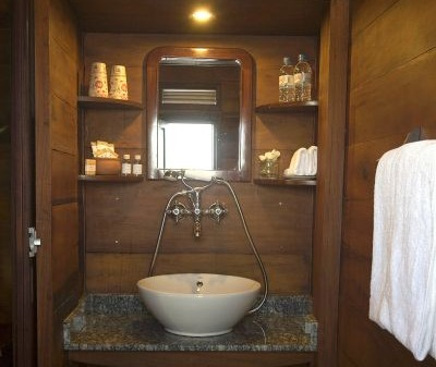 Bathroom on Bassac Boat