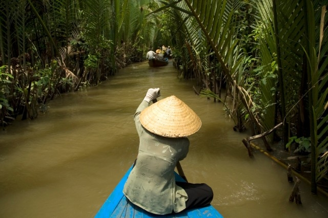 Cruise in Ben Tre, Tien Giang, Vietnam