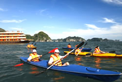 Kayking in Halong Bay, Vietnam