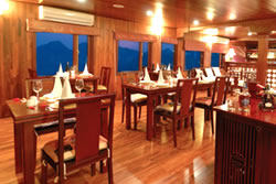Dining room on Valentine Cruise Halong Bay Vietnam