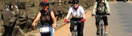 Cycling to Angkor Wat